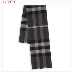 Burberry cashmere and wool scarf. NWT